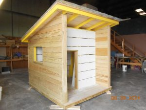 Playhouse for Make A Wish Foundation - donated time By Friga Construction INC
