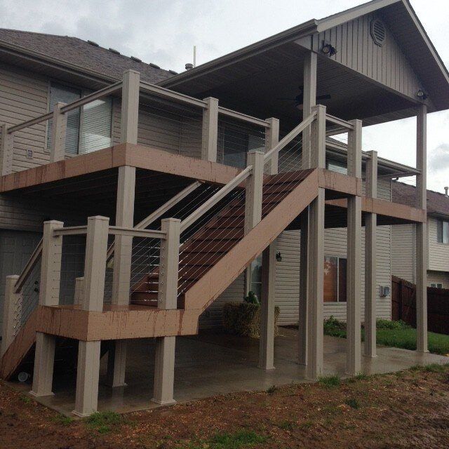 Covered Deck & driveway