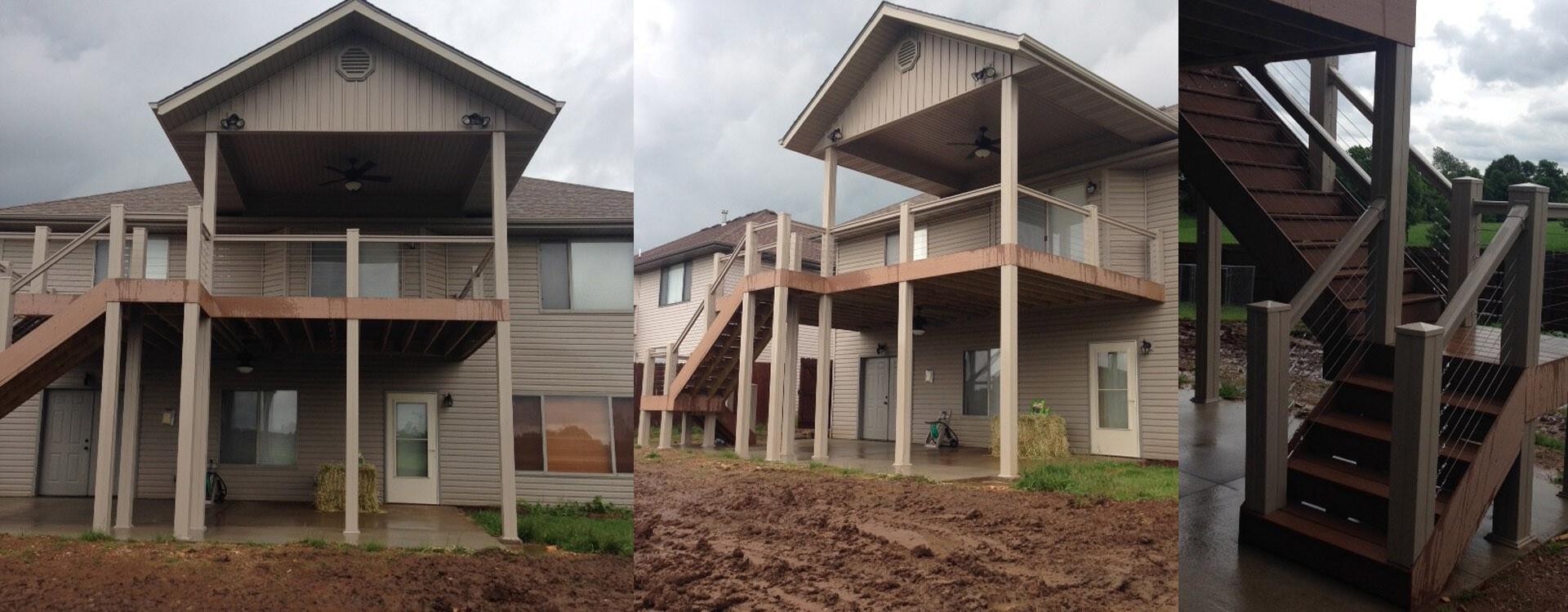 Covered Deck & driveway- Friga INC