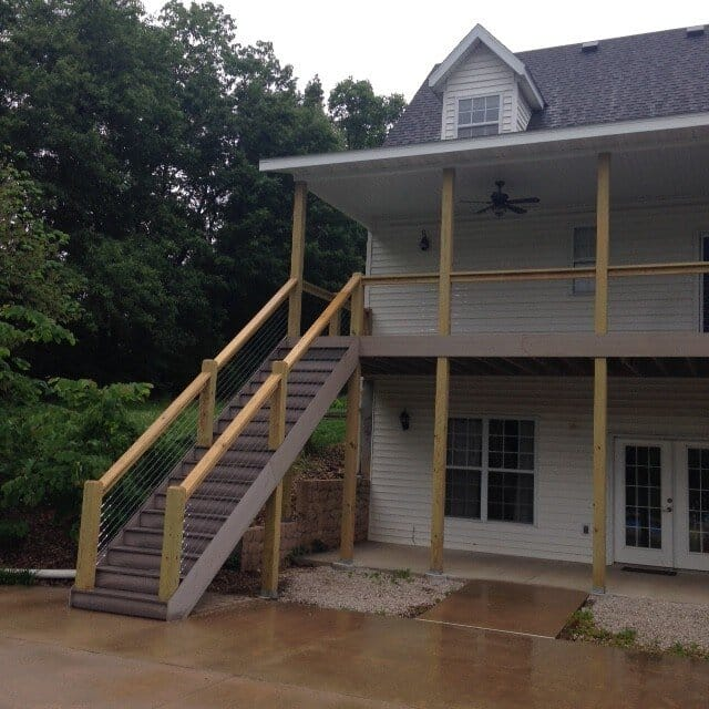 Deck & rear porch addition- Friga INC
