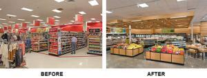 Before and After Remodeling a General Retail Store